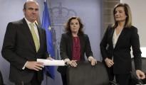 Soraya-Saenz-Santamaria-Fatima-Banez-Luis-Guindos-ERE
