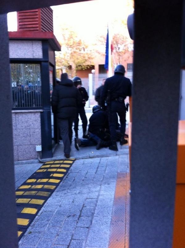 Represión policia marea blanca