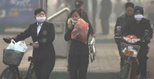 Los chinos se ahogan por la contaminación