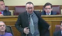 Baldovi se desnuda en el Congreso para apoyar a la PAH