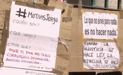 Motivos de Jorge - Huelga de Hambre en Madrid
