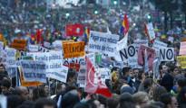 Seguimiento masivo de la Huelga General de Educación 24O