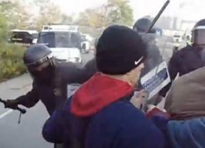 La Policía carga contra los trabajadores de Panrico
