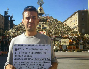 Huelga de hambre en Zaragoza - Javier