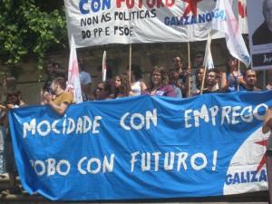 Jóvenes de Galiza Nova podrían enfrentarse a multas de hasta 20.000 euros por protestar por el desempleo juvenil