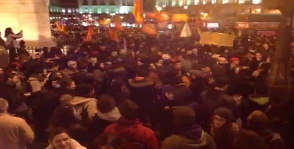 Protesta en apoyo a Gamonal en Madrid - 15 de enero de 2014
