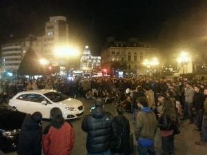Protesta de apoyo a Gamonal en Oviedo - 15 de enero de 2014