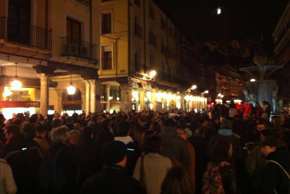 Protesta de apoyo a Gamonal en Valladolid - 15 de enero de 2014