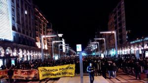 Manifestación en Zaragoza en apoyo  Gamonal - 17 de enero de 2014