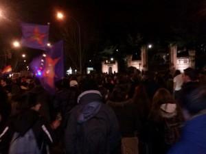 Manifestación en Salamanca en apoyo a los vecinos de Gamonal