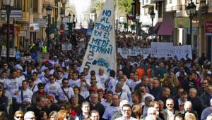 Castellón y Baleares toman la calle contra las prospecciones petrolíferas en sus aguas