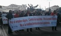 Varios heridos y tres detenidos en Valladolid tras una manifestación de parados
