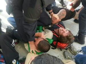 La PAH denuncia violencia policial en el desahucio de hoy en Parla