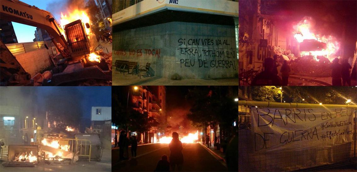 Las protestas por el cierre de Can Vies amenazan con provocar una Primavera Catalana