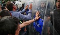 Manifestantes turcos contra Erdogan por la tragedia minera