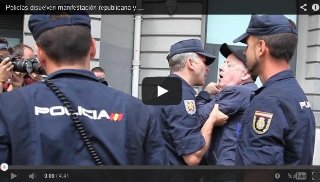 (Vídeo) La Policía impide el 'Rodea el Congreso' y agrede a un periodista