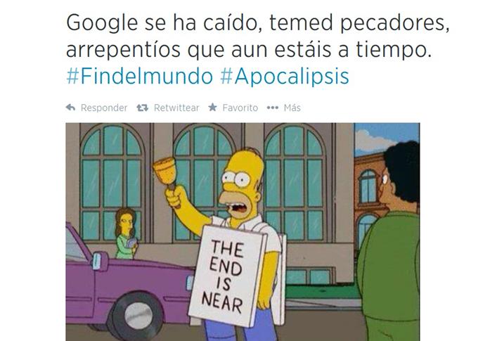 El día del fin del mundo o ese largo instante durante el cual se cayó Google