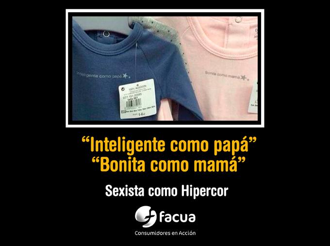 """""""Inteligente como papá, bonita como mamá"""": la ropa sexista que El Corte Inglés ha tenido que retirar"""