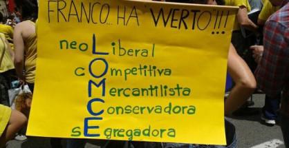 La comunidad educativa convoca encierros contra la Lomce en centros escolares de toda España