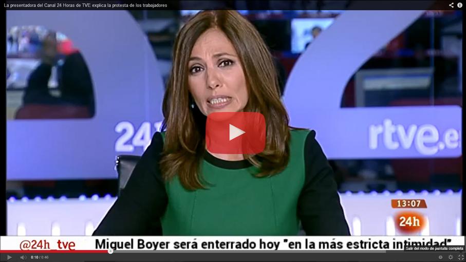 Las protestas de los trabajadores de TVE interrumpen el canal 24 horas y cortan el programa de Mariló Montero