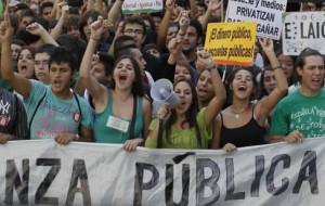 Los estudiantes paralizarán la educación con una huelga de tres días la próxima semana