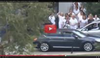 """(Vídeo) Sanitarios del Carlos III abuchean a Rajoy arrojándole sus guantes entre gritos de """"¡Cobardes!"""" y """"¡Sinvergüenzas!"""""""