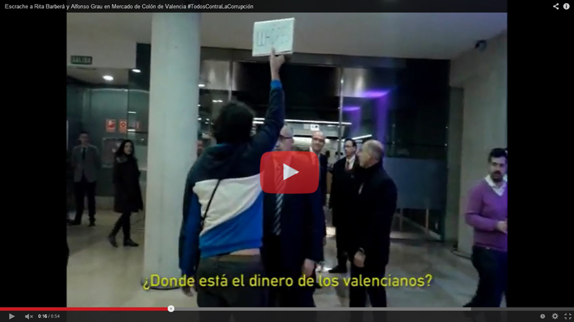 Escrache a Rita Barberá y Alfonso Grau en Valencia