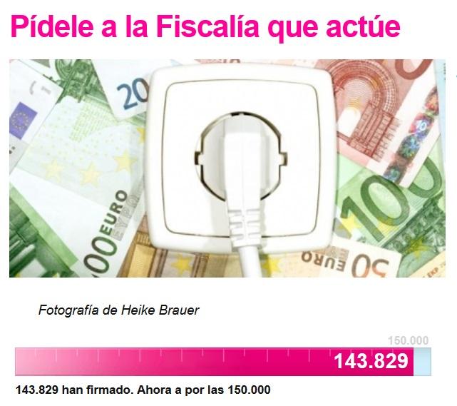 """143.000 ciudadanos exigen a Anticorrupción la investigación del """"regalo"""" de 3.400 millones de euros del Gobierno a las eléctricas"""