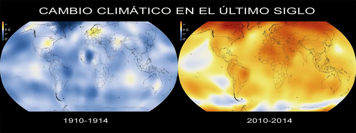 Cambio climático en el último siglo
