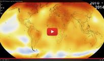 Un vídeo de la NASA demuestra el cambio climático: 2014 ha sido el año más cálido de la historia reciente de la Tierra