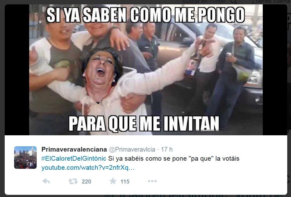 Las redes sociales se ensañan con Rita Barberá y convierten el 'caloret faller' en la canción del verano