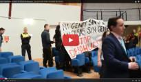 19 activistas detenidos por protestar contra los desahucios en una Junta Municipal de Madrid