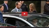 (Vídeo) Abucheos de preferentistas a Ana Mato y su rídicula firma del recibí de la citación de Ruz