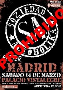 """Ana Botella prohíbe el concierto de Soziedad Alkoholika por sus """"excesos verbales hirientes"""""""