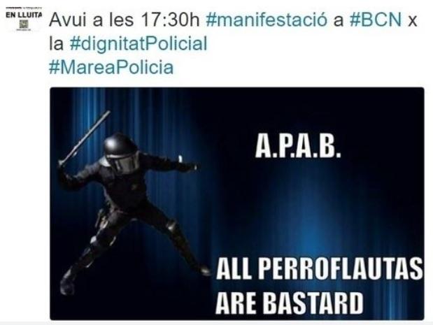 APAB Manifestación Policial