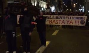 Manifestación policial Barcelona