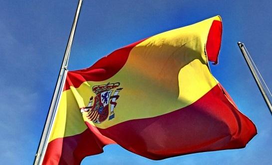 Bandera España - Media asta