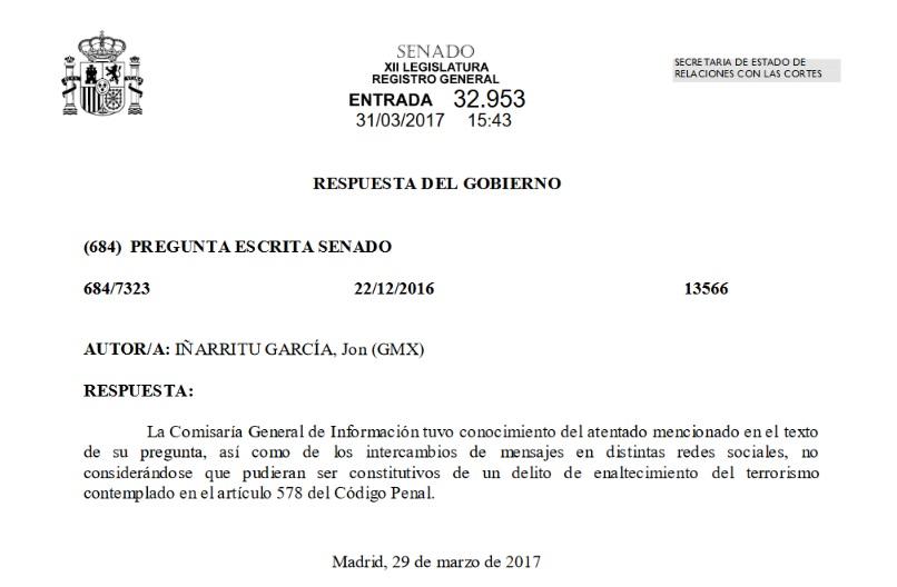 Respuesta Senado Iñarritu