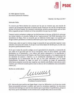 Carta_PSOE_Moción_Censura_Podemos