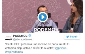 Podemos_Moción de Censura_PSOE