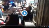 Agresiones fascistas Barcelona 27-O