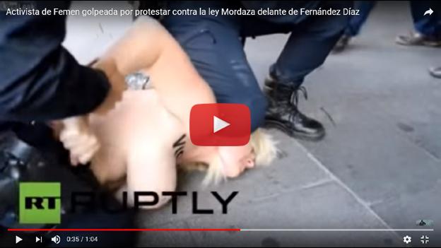 FEMEN-Ley Mordaza