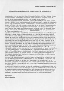 Renuncia concejala PP Palamós