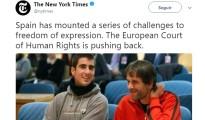 New York Times-Libertad de Expresión España