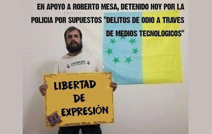 Roberto Mesa-Protesta