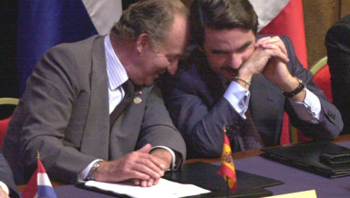 Aznar y Juan Carlos I
