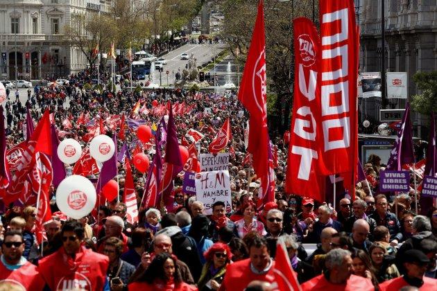 Manifestación con motivo del Primero de Mayo.