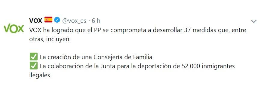 Acuerdo Vox-PP