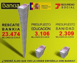 Bankia y los recortes parecen dirctamente relacionados