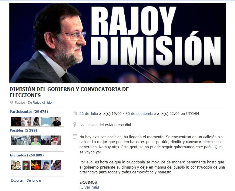 Convocatoria 26J - Gobierno Dimisión